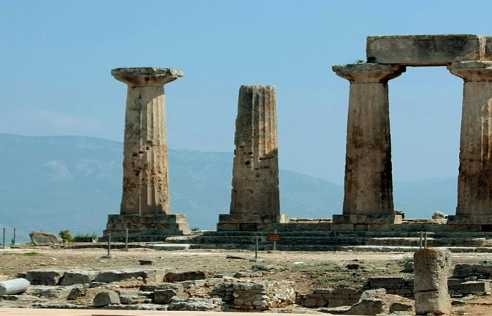 The oldest temple you can visit in Corinth,part of our historical Greece Tours.