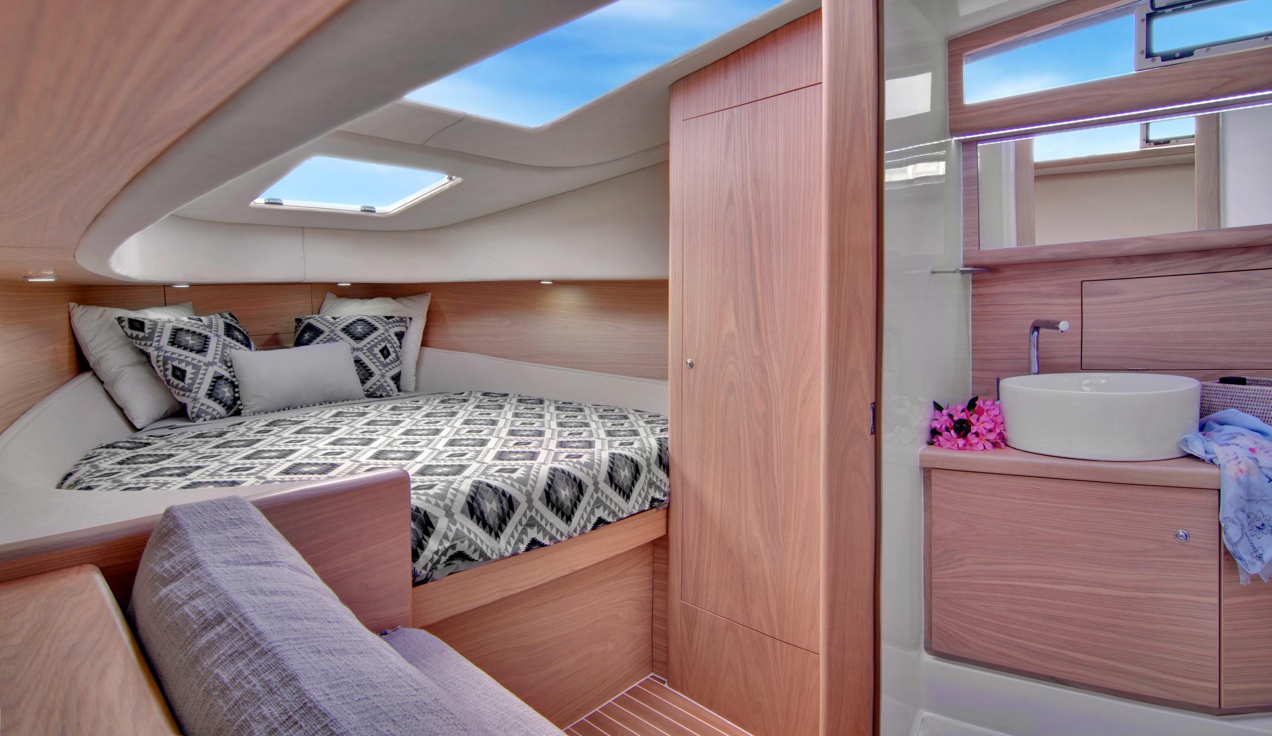 luxury boat cabin photo